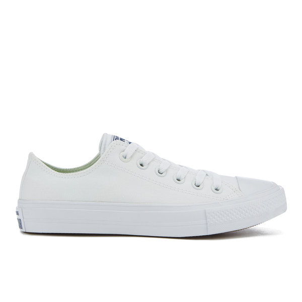 c2e00f57fe73 Converse Chuck Taylor All Star II Ox Trainers - White White Navy ...