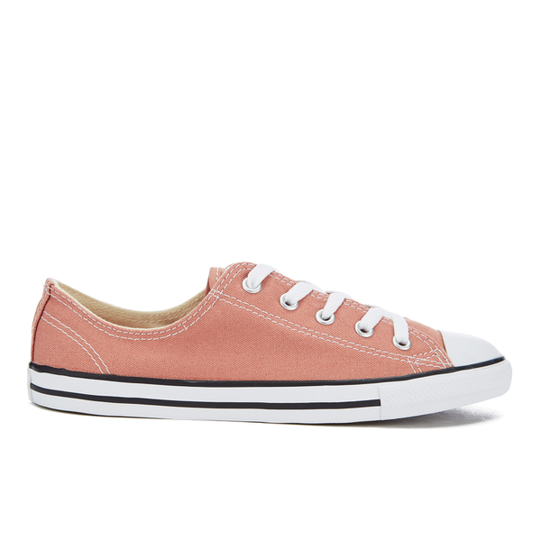 Converse Women's Chuck Taylor All Star Dainty Ox Trainers - Pink Blush/Black/White