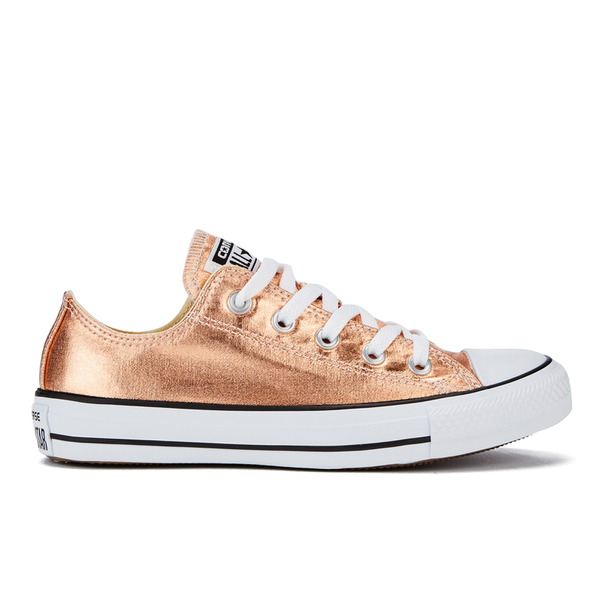 Converse Women s Chuck Taylor All Star Ox Trainers - Metallic Sunset Glow  White Black a0d277661