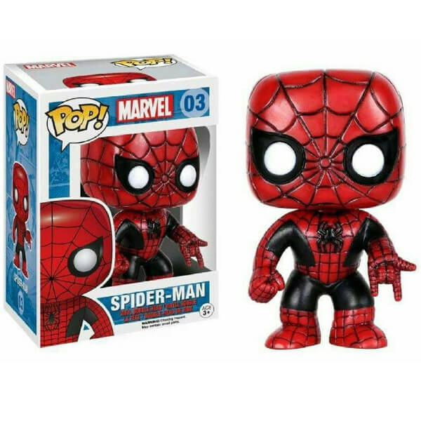 Spider-Man Red and Black Pop Vinyl Figure