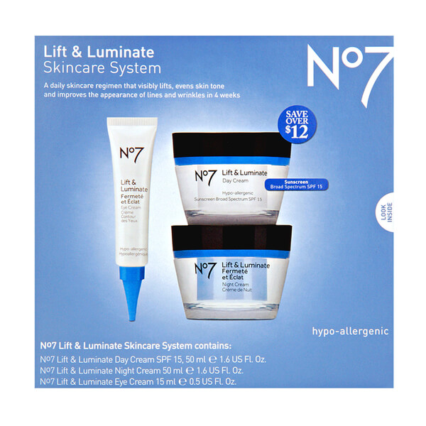 Boots No.7 Lift and Luminate Skincare Kit | Reviews | SkinStore