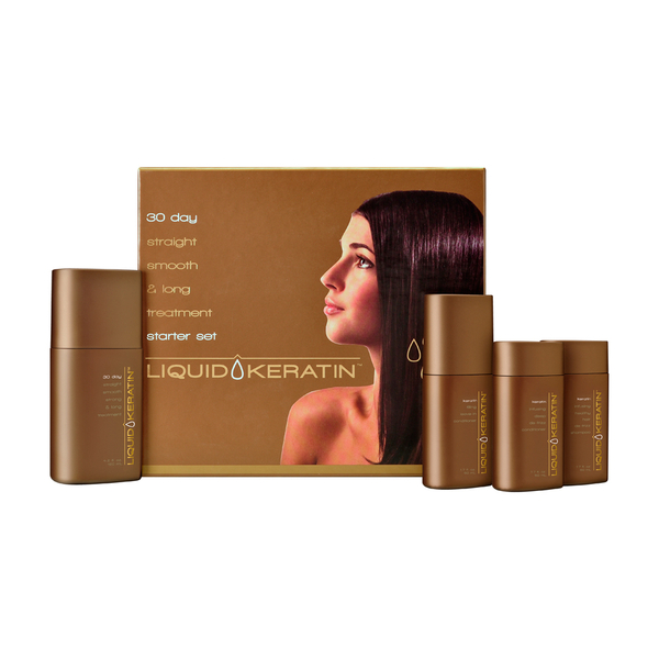 Liquid Keratin 30 Day Straight-Smooth-Strong and Long Treatment Starter Kit