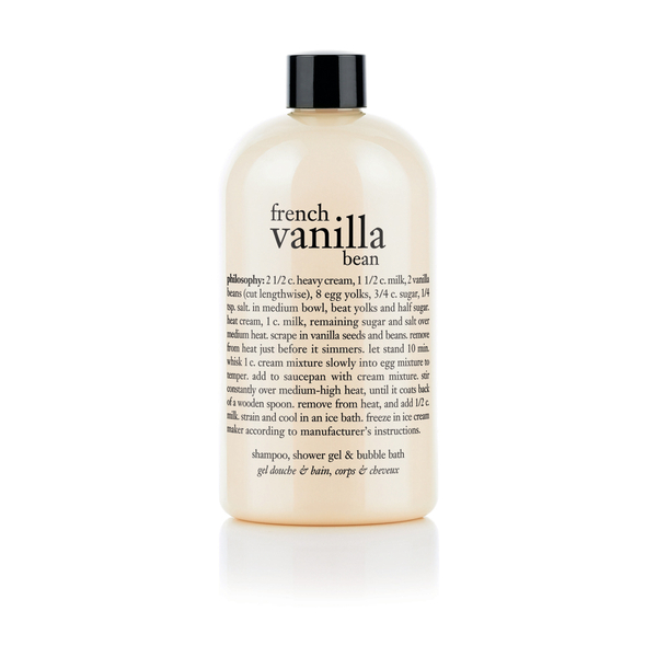 Philosophy French Vanilla Bean Ice Cream Shampoo, Shower Gel and Bubble Bath