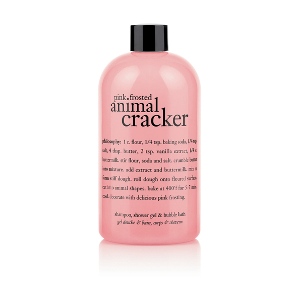 Philosophy Pink Frosted Animal Cracker Shampoo, Shower Gel and Bubble Bath