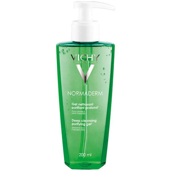 Vichy Normaderm Daily Deep Cleansing Gel Acne Face Wash with Salicylic Acid, 6.7 Fl. Oz.