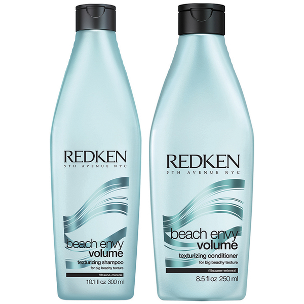 Redken Beach Envy Volume Texturizing Shampoo (300ml) & Beach Envy Volume Texturizing Conditioner (250ml)