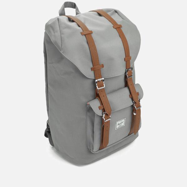 6e551f75fa0 Herschel Supply Co. Little America Backpack - Grey Tan Synthetic Leather   Image 3