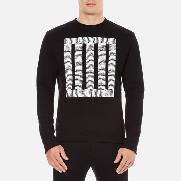 McQ Alexander McQueen Men's Clean Crew Neck Sweatshirt - Darkest Black
