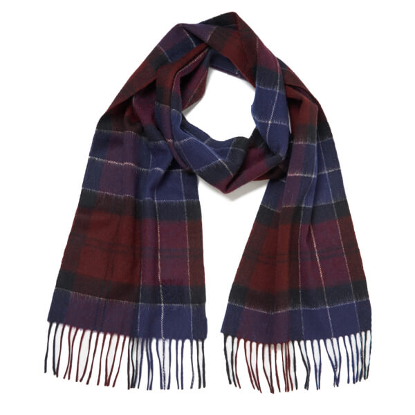 Barbour Men's Holden Tartan Scarf - Port/Navy