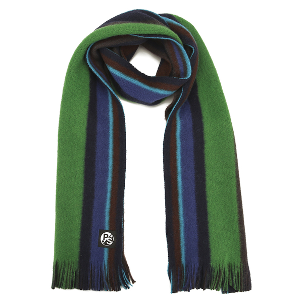 PS by Paul Smith Men's Reversible Stripe Scarf - Navy