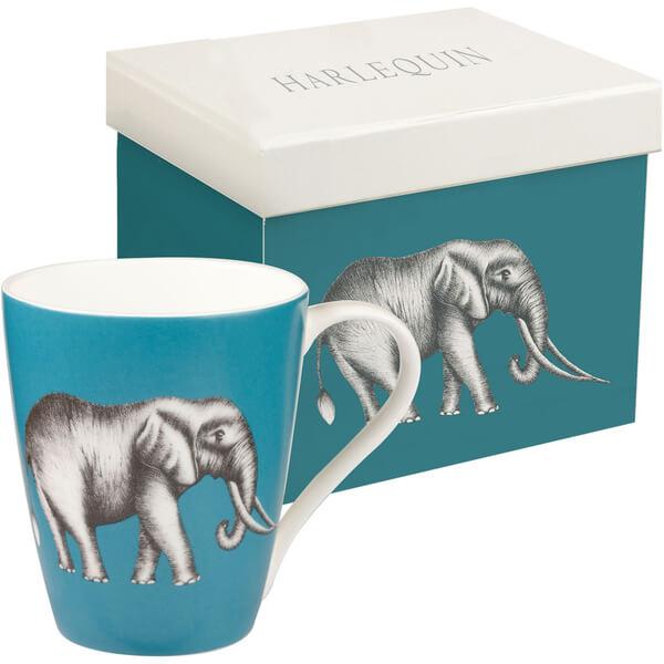 Tasse Cadeau Harlequin Eléphant -Bleu Lagon