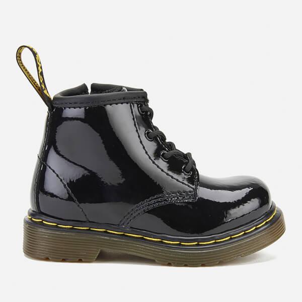 Dr. Martens Toddler's 1460 I Patent Lamper Lace Up Boots - Black
