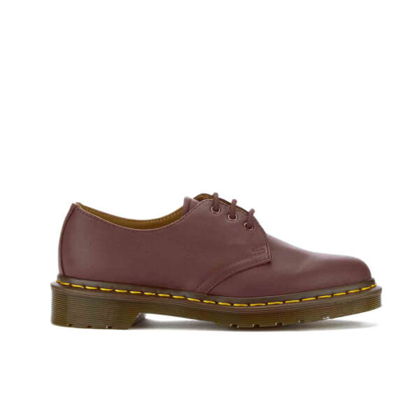 Dr. Martens Women's 1461 3-Eye Virginia Leather Shoes - Cherry Red