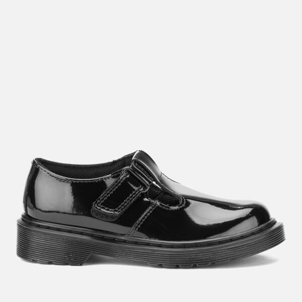 Dr. Martens Kids' Goldie Patent Lamper Leather Mary Jane Shoes - Black
