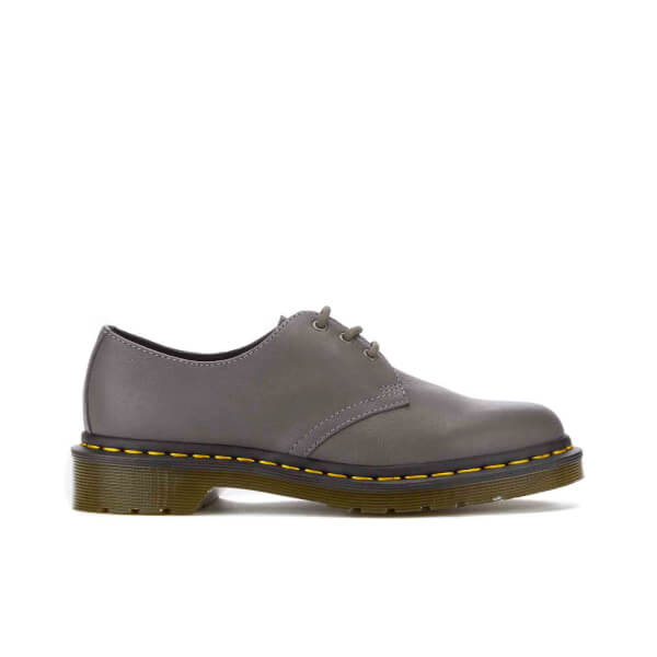 Dr. Martens Women's 1461 3-Eye Virginia Leather Shoes - Lead