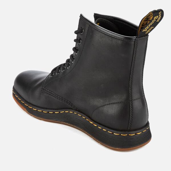 002e5b7dec085 Dr Martens Newton Lite Leather 8 Eye Boots Black Womens Footwear