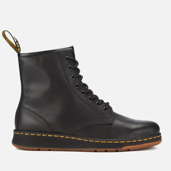 712a395bff70 Dr. Martens Newton Lite Leather 8-Eye Boots - Black  Image 1