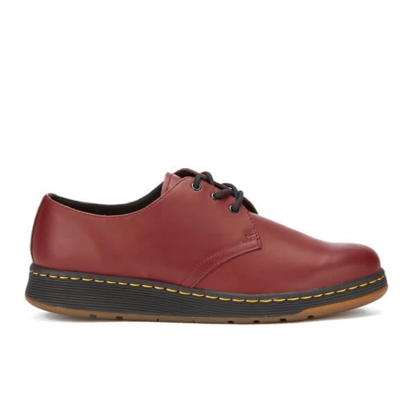 d17437f81c Dr. Martens Men's Lite Cavendish 3-Eye Shoes - Cherry Red | FREE UK ...