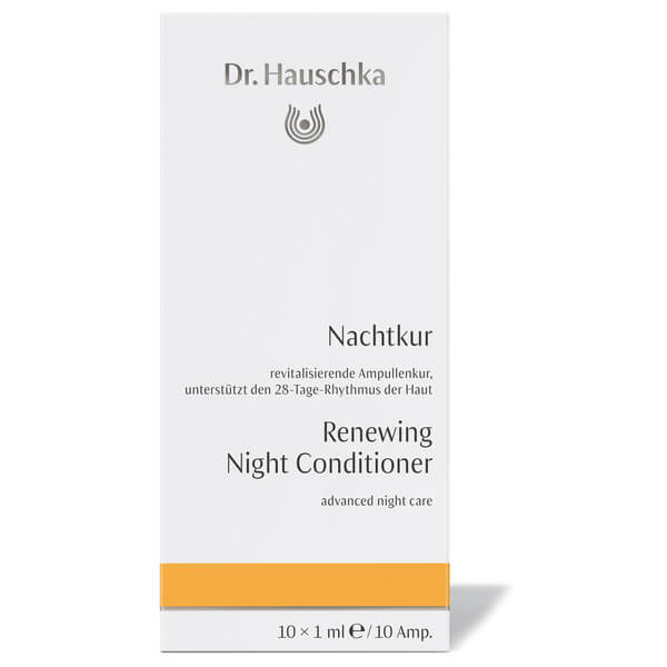 Dr. Hauschka Renewing Night Conditioner 10 Ampules Garnier SkinActive Clearly Brighter Sheer Tinted Eye Roller, Light/Medium 0.5 oz