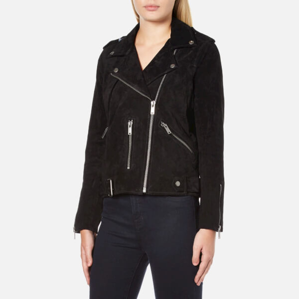 a84b9df9a7f Selected Femme Women s Sanella Suede Jacket - Black Womens Clothing ...
