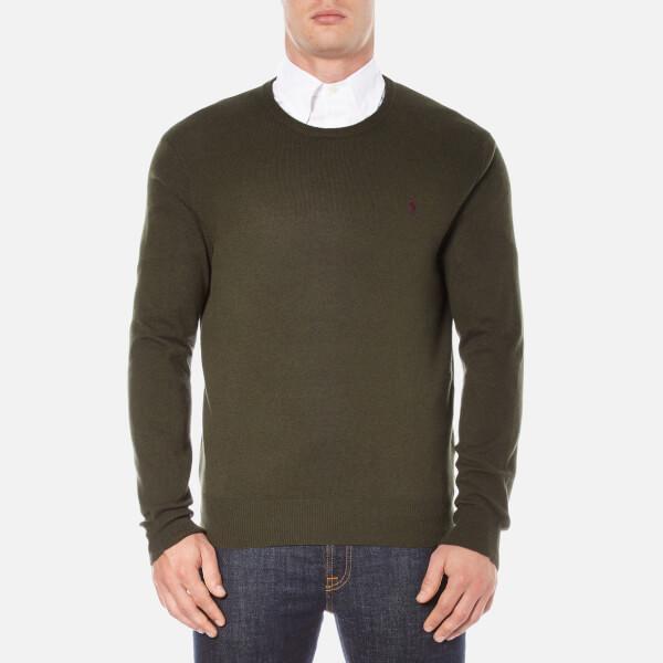 Polo Ralph Lauren Men's Crew Neck Merino Knitted Jumper - Dark Loden