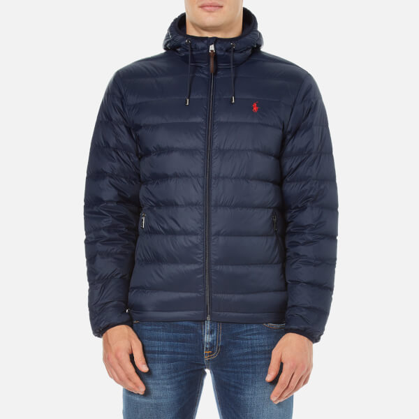 Polo Ralph Lauren Men's Core Nylon Packable Down Jacket - Aviator Navy:  Image 1