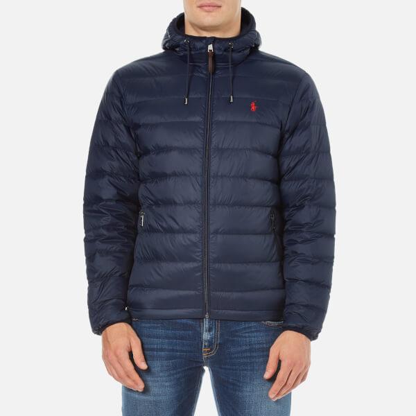UK 23NZVSWF Men Choose Classic Ralph Lauren Down Blue Hoody Jackets