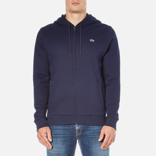 Lacoste Men's Zip Through Hoody - Navy Blue
