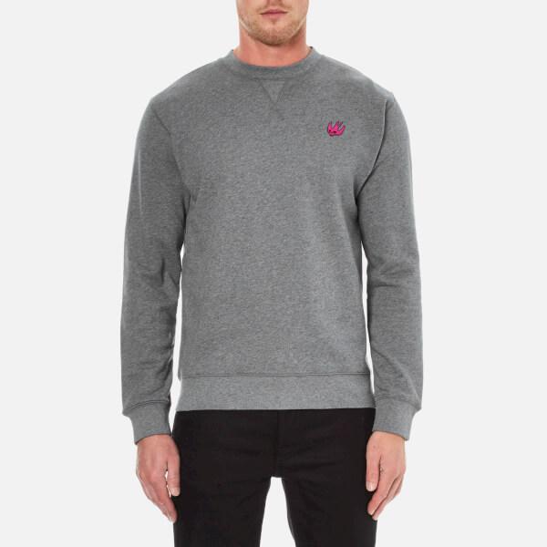 McQ Alexander McQueen Men's Coverlock Crew Sweatshirt - Stone Grey Melange