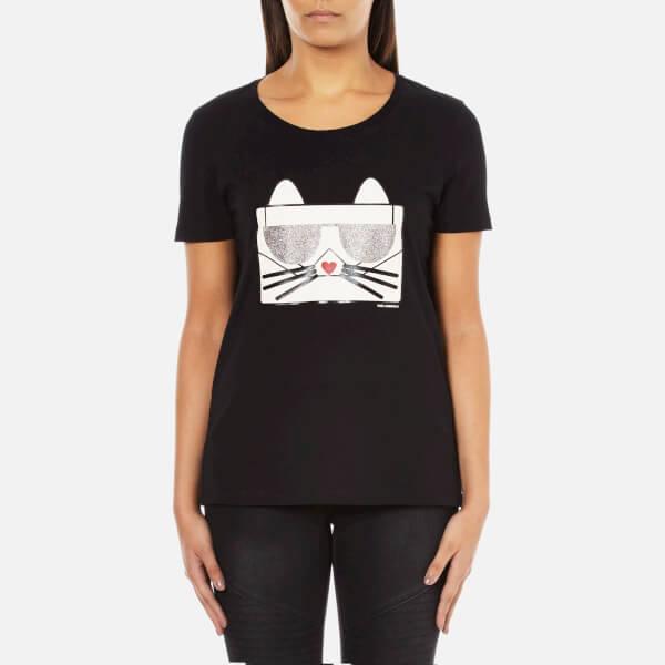 Karl Lagerfeld Women's Kocktail Choupette T-Shirt - Black