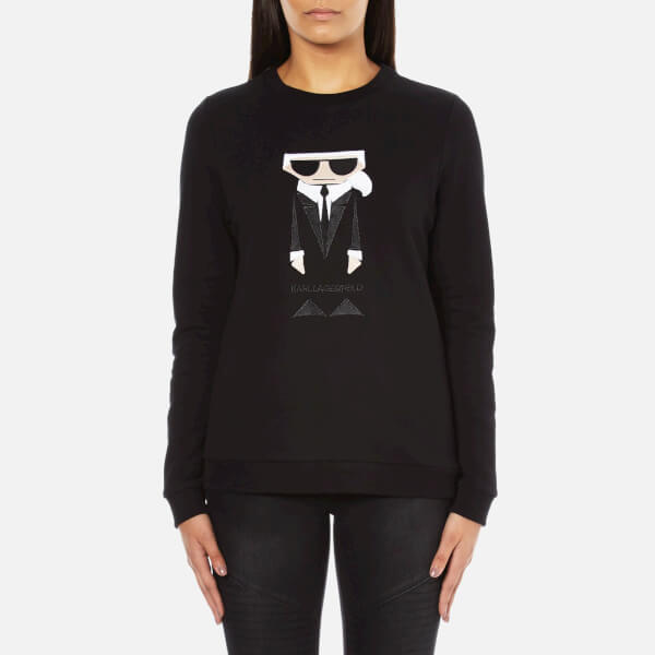 Karl Lagerfeld Women's Kocktail Karl Sweatshirt - Black