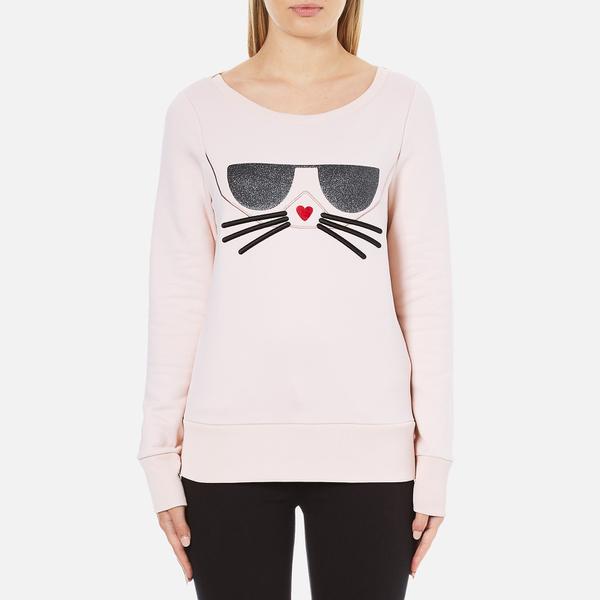 Karl Lagerfeld Women's Kocktail Choupette Sweatshirt Rose Smoke: Image 1