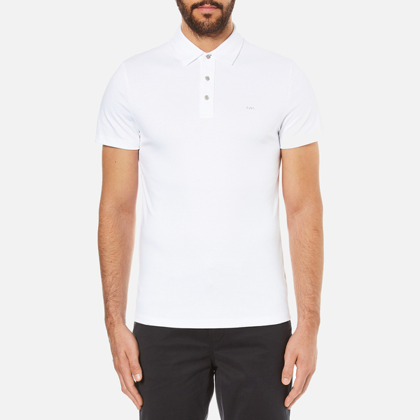 Michael Kors Men's Liquid Cotton Short Sleeve Polo Shirt - White
