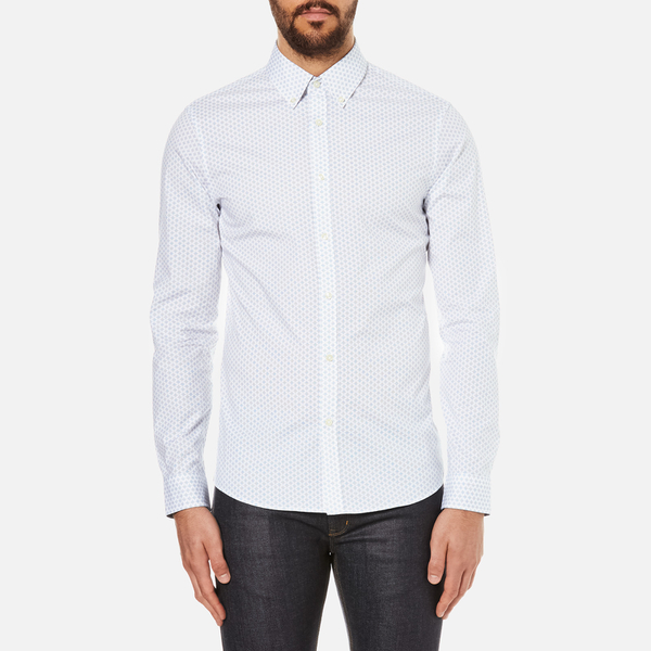Michael Kors Men's Slim Fit Landon Long Sleeve Shirt - Ocean