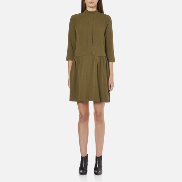 Ganni Women's Clark Dress - Dark Olive
