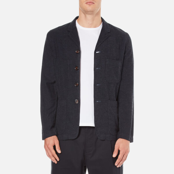 Universal Works Men's Four & Half Button Jacket - Navy