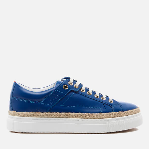 HUGO Women's Connie R Espadrille Trainers - Medium Blue