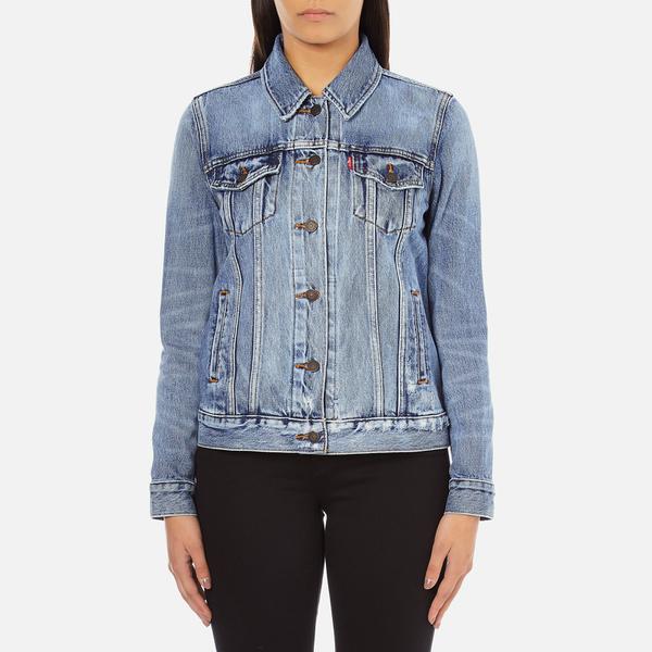 Levi S Women S Boyfriend Trucker Jacket Blue Wonder Womens Clothing