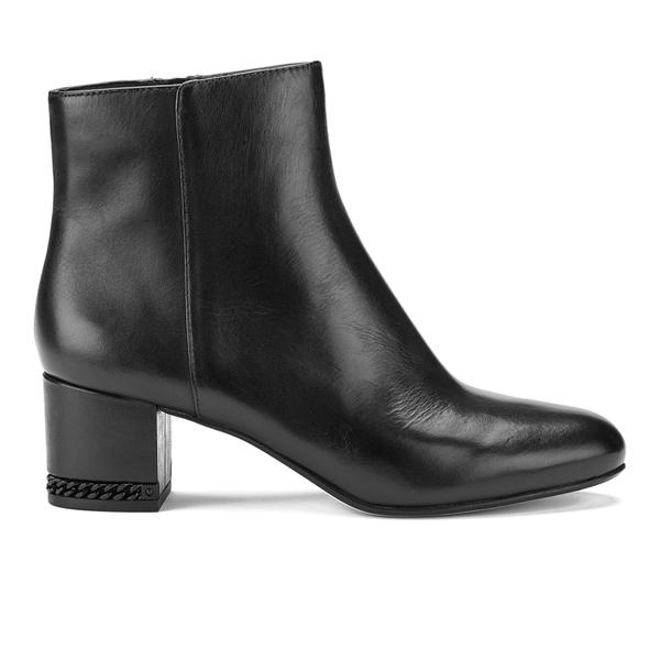 MICHAEL MICHAEL KORS Women's Sabrina Leather Mid Heeled Boots - Black:  Image 1