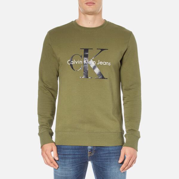 Calvin Klein Men's Crew Neck Sweatshirt - Olive Night