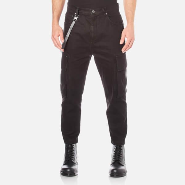 Helmut Lang Men's Cropped Cargo Jeans - Black