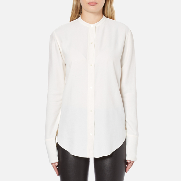 Helmut Lang Women's Back Knot Long Sleeve Blouse - White