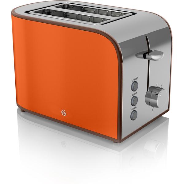 swan st17020on 2 slice retro toaster orange iwoot. Black Bedroom Furniture Sets. Home Design Ideas