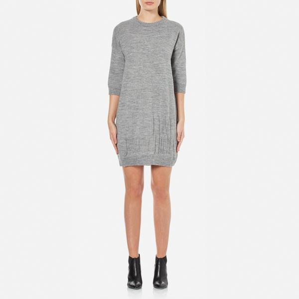 Love Moschino Women's Logo Imprint Jumper Dress - Medium Grey