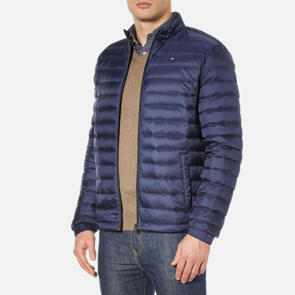 Tommy Hilfiger Men S Packable Down Bomber Jacket Navy