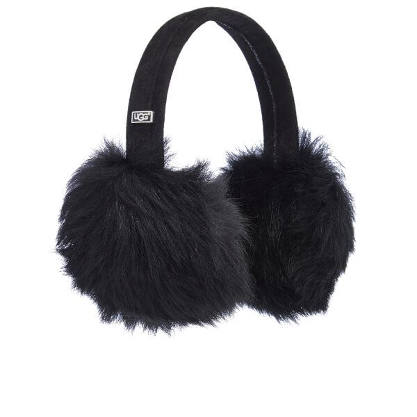 UGG Women's Classic Wired Sheepskin Earmuffs - Black: Image 1