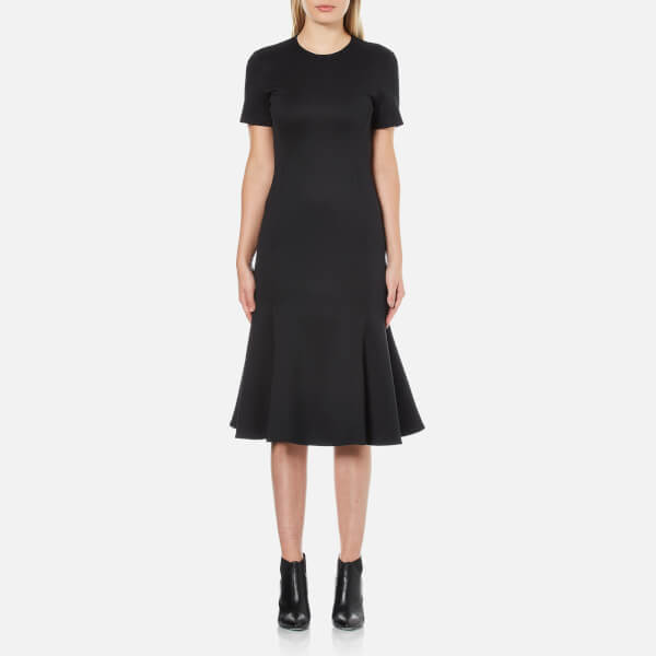 McQ Alexander McQueen Women's Flared Bodycon Dress - Darkest Black