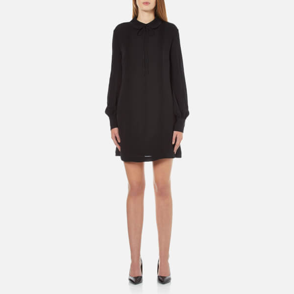 McQ Alexander McQueen Women's Pin Tuck Shirt Dress - Black