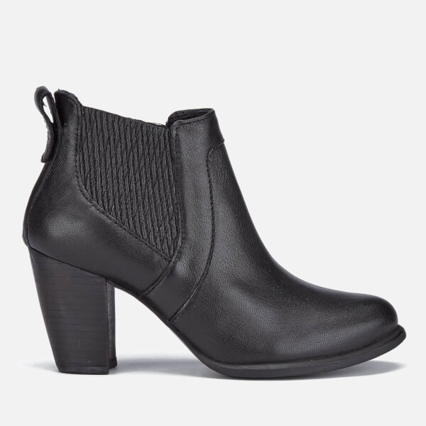 UGG Women's Cobie II Leather Heeled Ankle Boots - Black