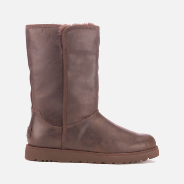 UGG Women's Michelle Leather Classic Slim Sheepskin Boots - Stout: Image 1